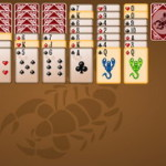 Пасьянс Скорпион 3 сложности
